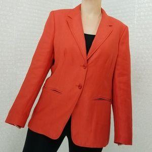 Max Mara NWOT pumpkin orange blazer